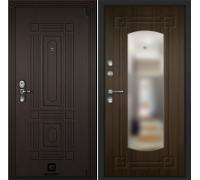 Входная дверь Cisa Sarbona Лиственница темная зеркало
